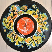 paint marker on a vinyl .