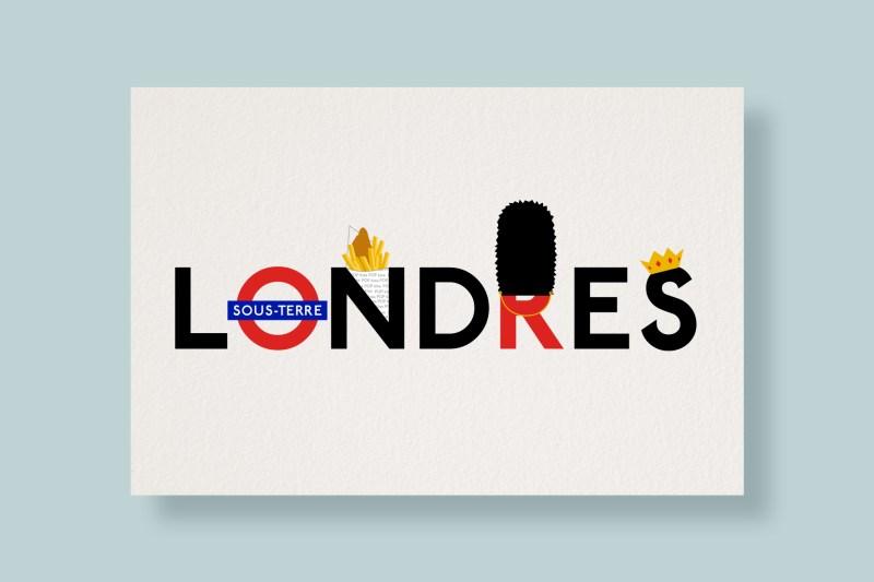 Carte Typostale Londres