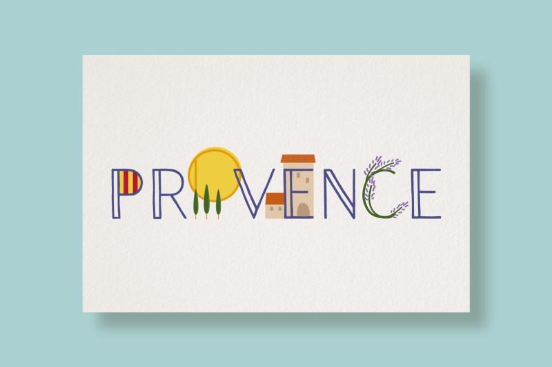 Carte Typostale Provence