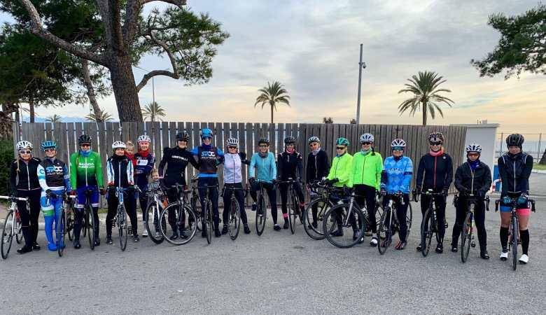 Sortie route entre femmes, avec le Team Féminin 06 - janvier 2019