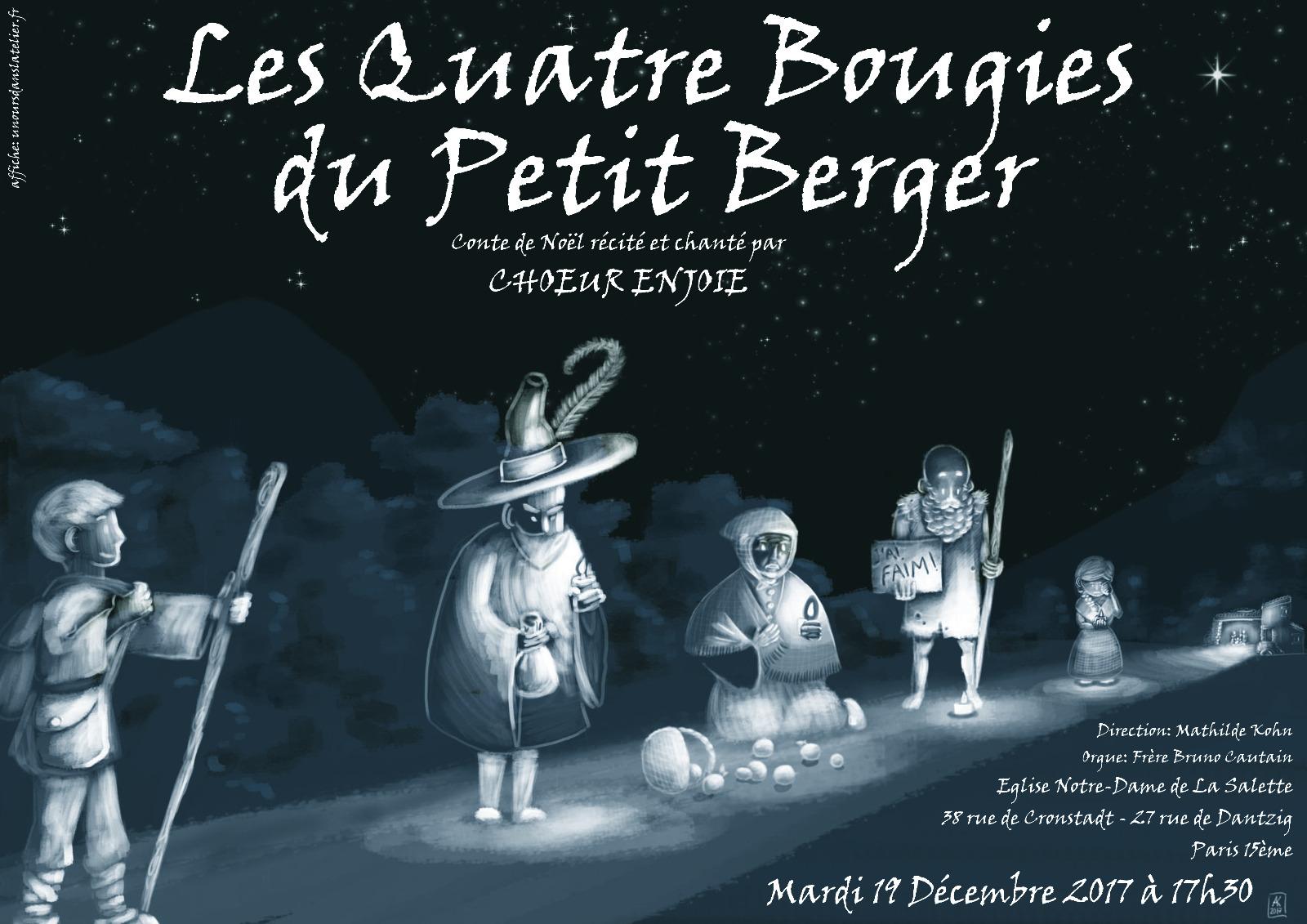 Conte de Noël - Les quatre bougies du petit berger