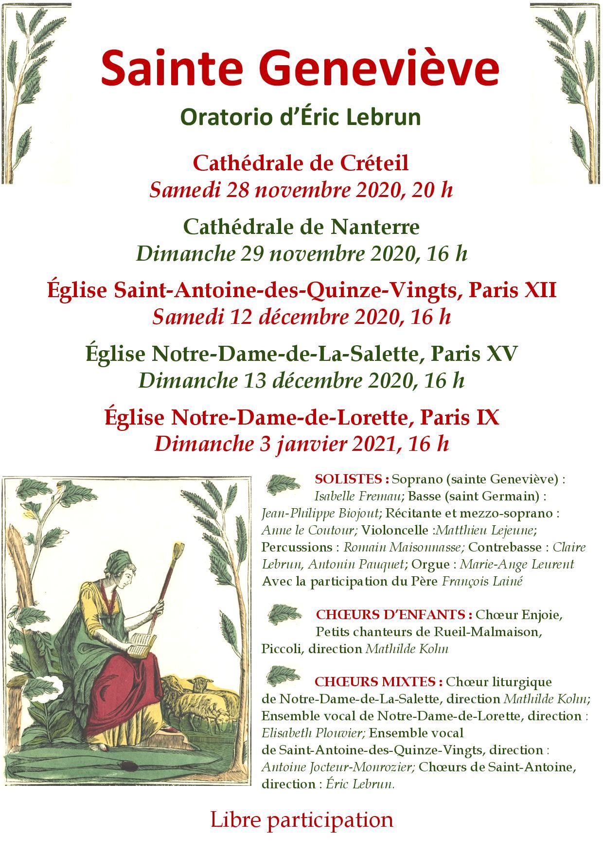 Oratorio Ste Geneviève Eric Lebrun - Cathédrale de Nanterre