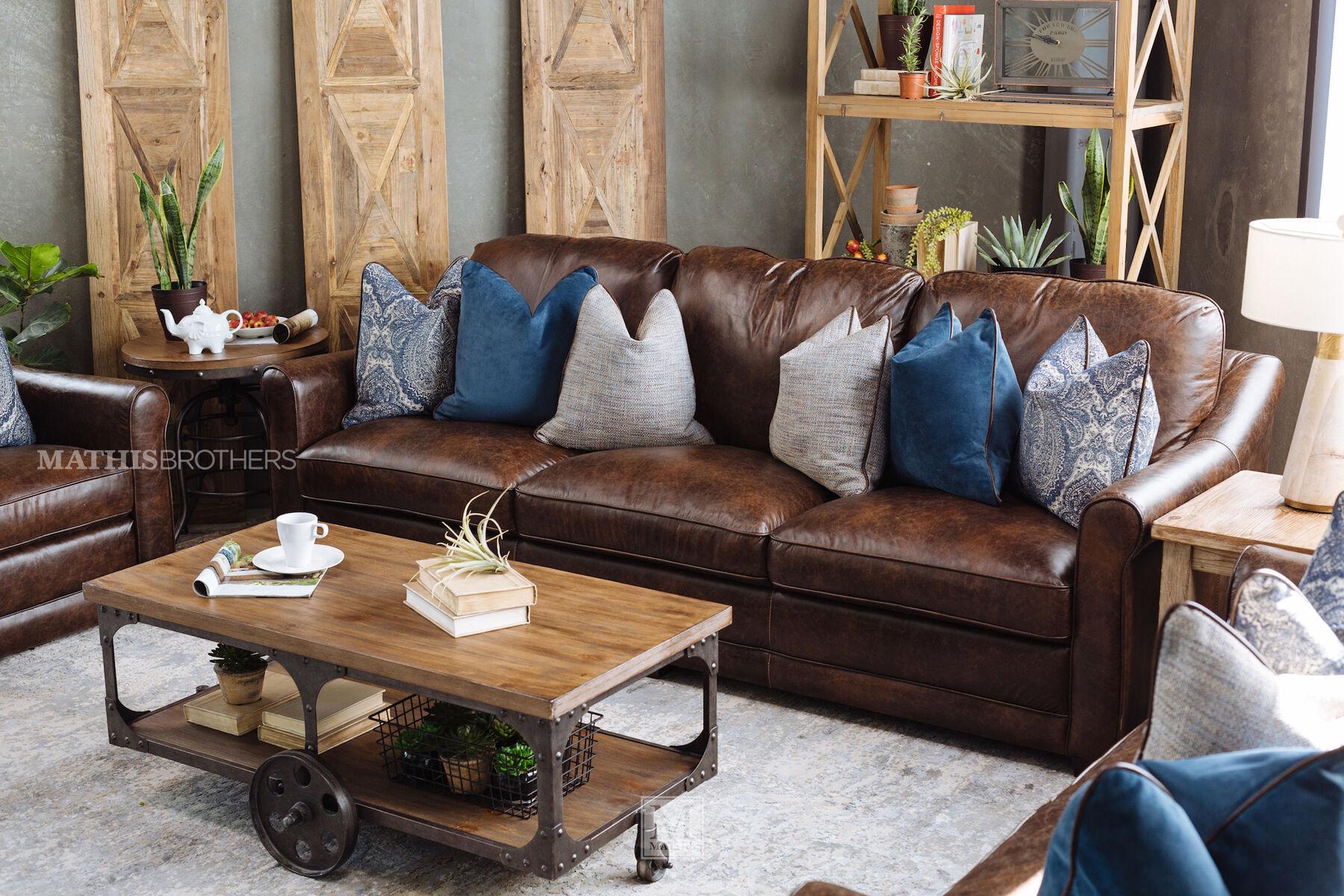 Open-Shelf Rustic Farmhouse Coffee Table In Dark Brown