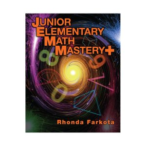 Junior Elementary Math Mastery Plus Teacher Book on square background