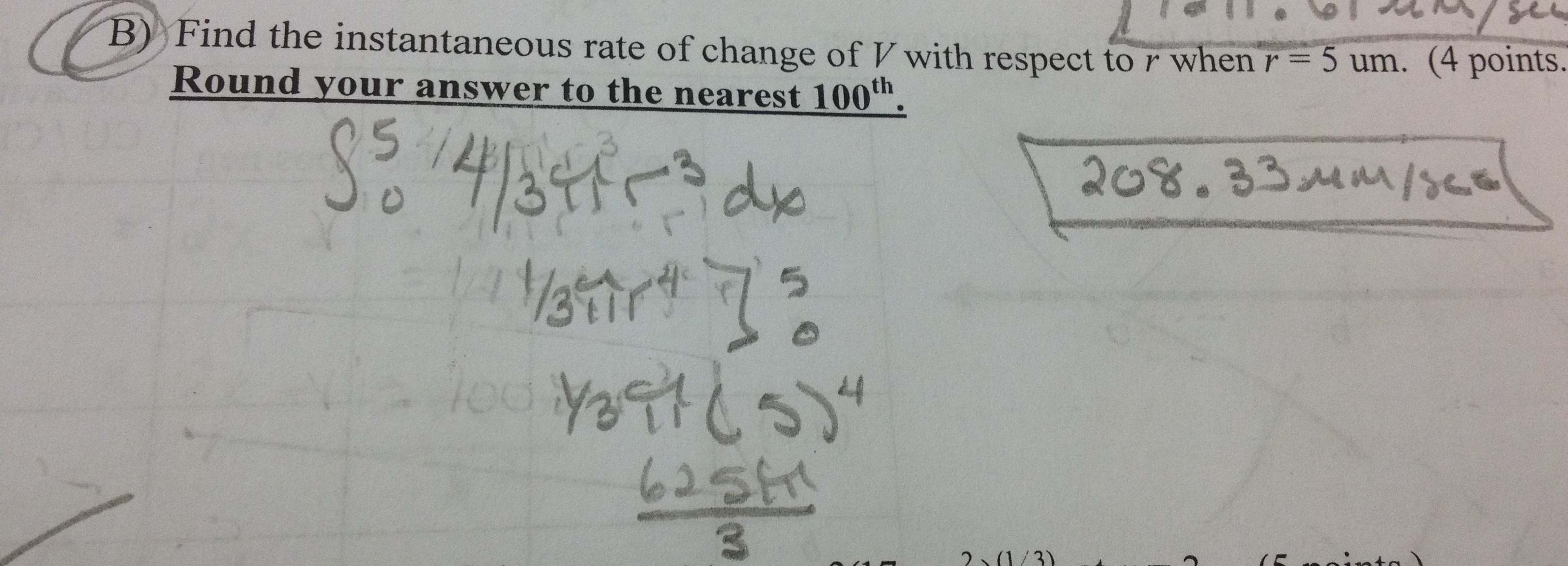 how to find average rate of change in volume