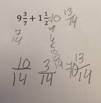 mixed number addition