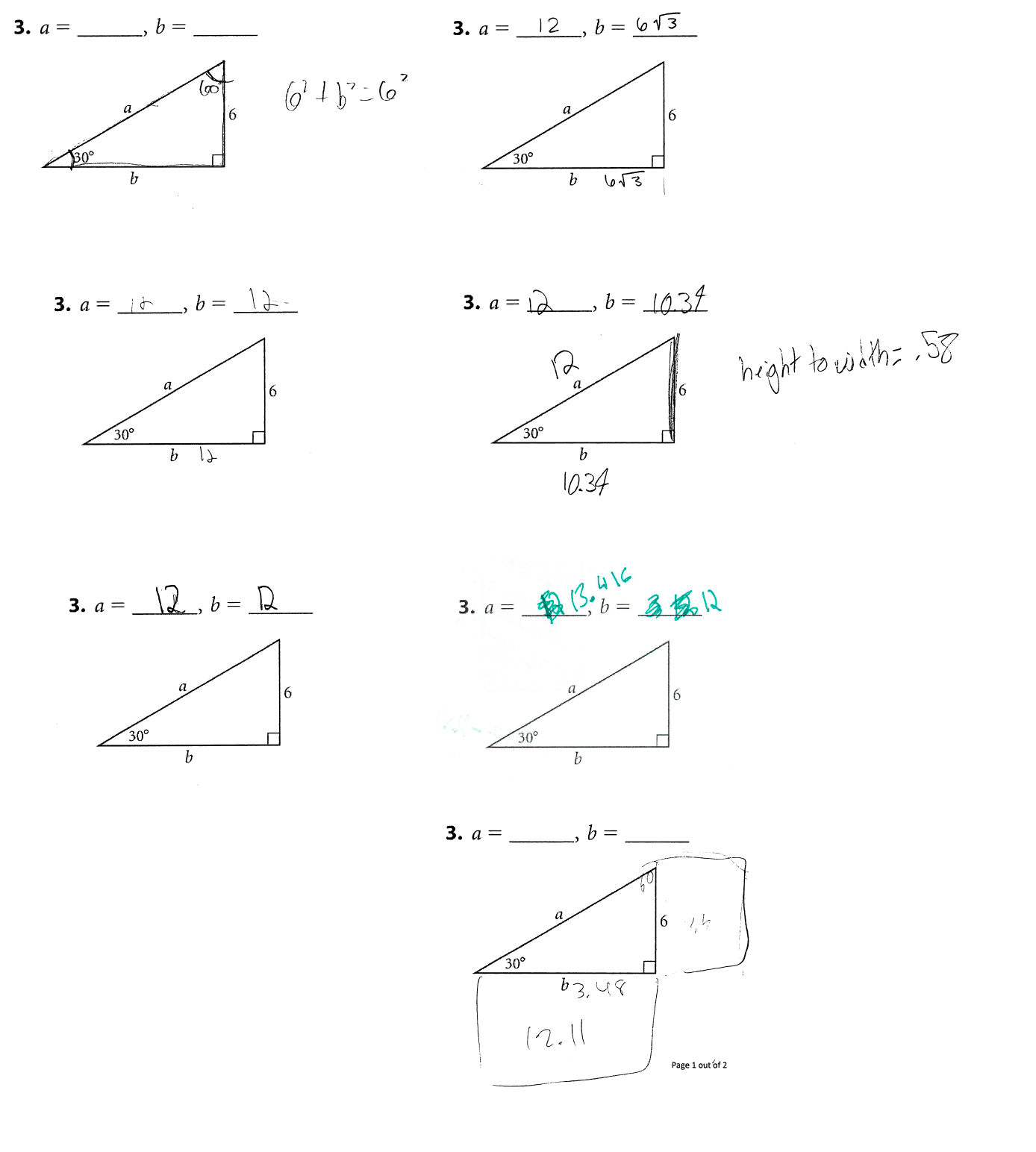 Similarity Right Triangles And Trigonometry Math Mistakes
