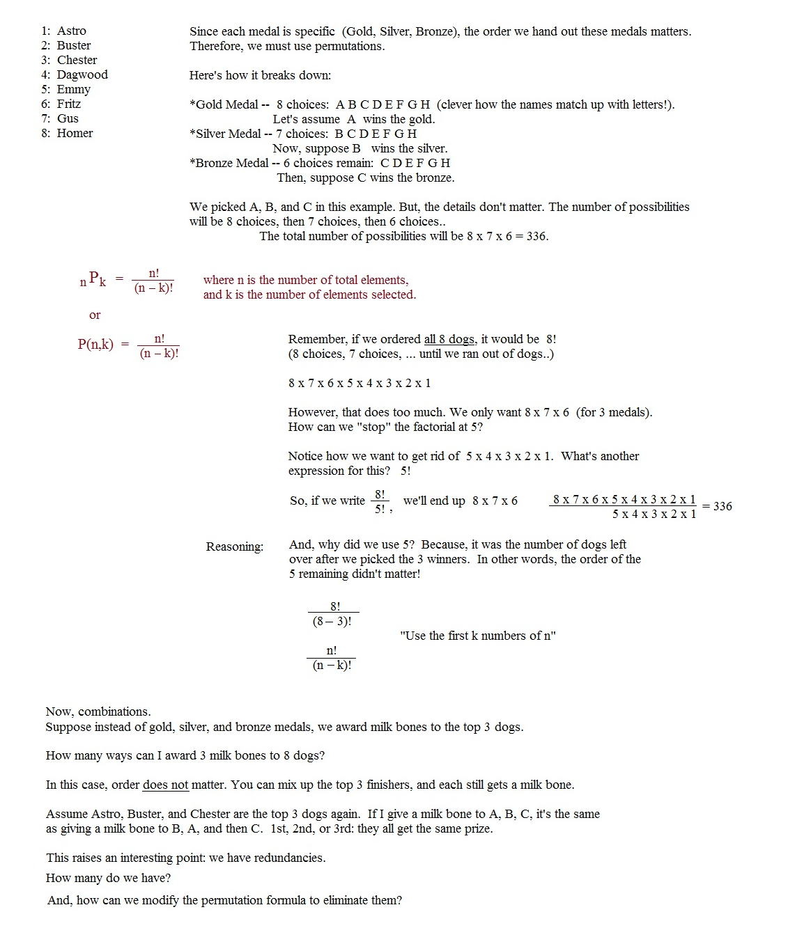 Counting Principle Worksheet With Answers