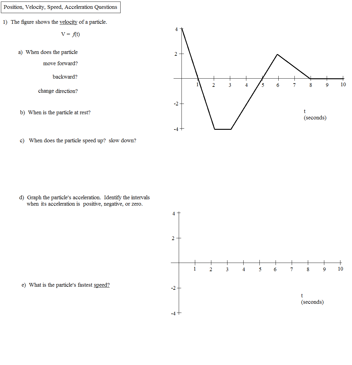 Printables Of Position Velocity Acceleration Calculus