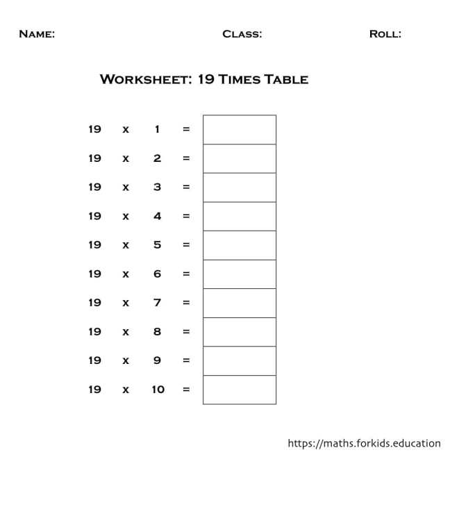 worksheet table 19-min