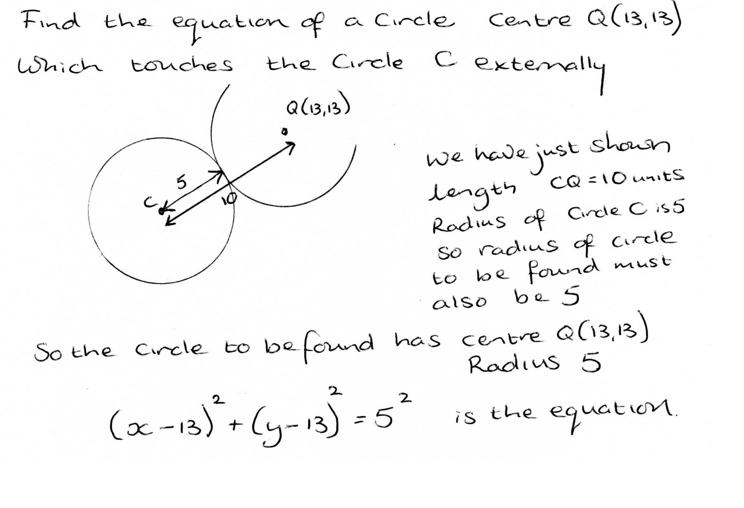 General Equation Of Circle Formula