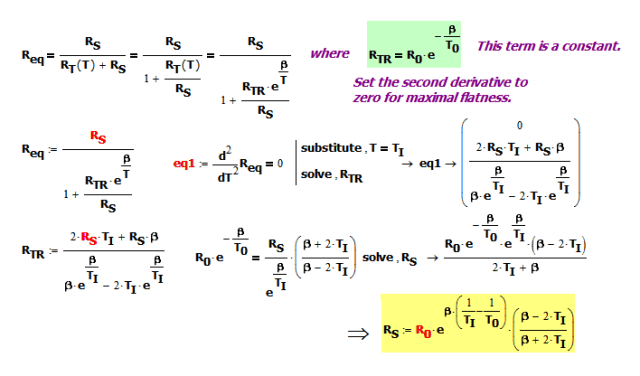 Figure 5: Mathcad Derivation of Equation X.