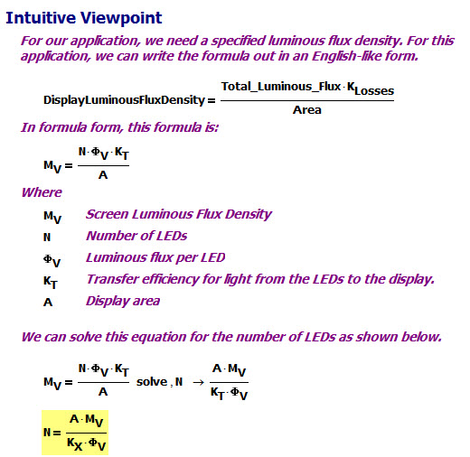 Figure M: Intuitive Derivation of the Screen's Brightness.