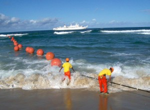 Figure 1: Fiber-Optic Cable Being Deployed.