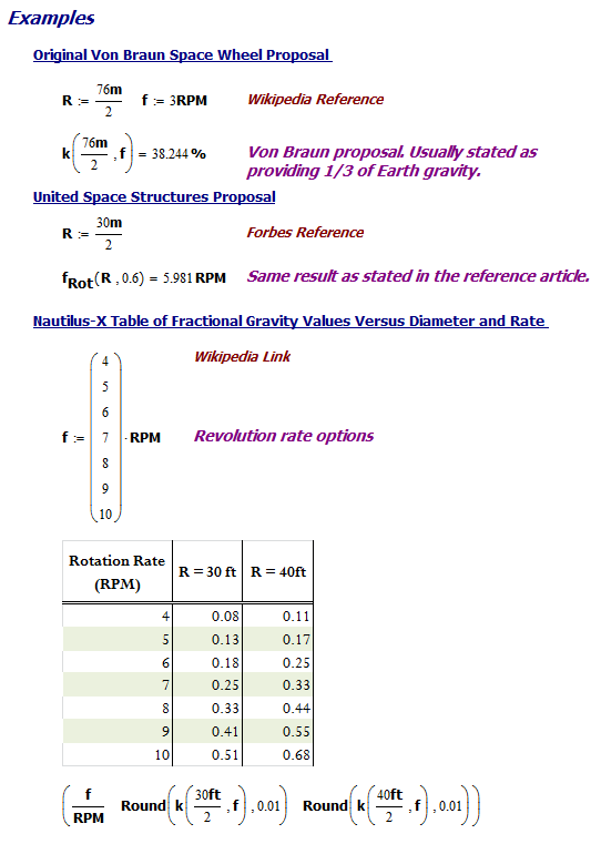 Figure M: Calculation for 3 Examples.