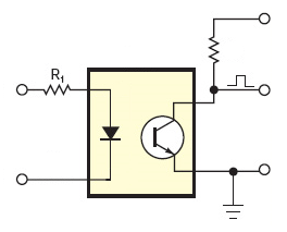 Figure 2: Basic Optocoupler Circuit.