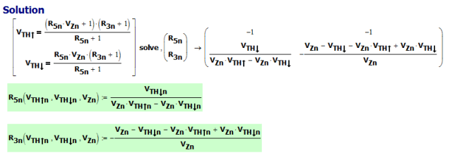 Figure 3: Solve for the normalized values of R3 and R5.