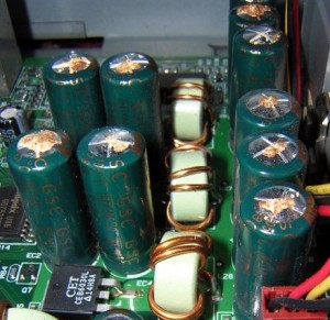 Figure 1: Examples of Electrolytic Capacitors that Failed Because of Outgassing.