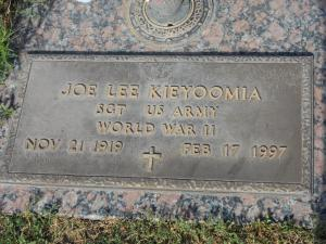Figure 1: Grave of Joe Kieyoomia. I Cannot Find His Photograph.