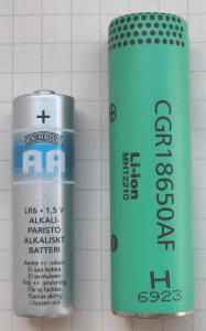 Figure 1: 18650 Lithium -Ion Cylindrical Battery (Source).