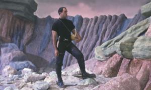 "Figure 2: Movie Image from ""Robinson Crusoe on Mars""."