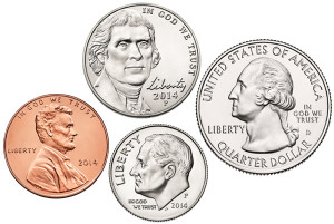 Figure 1: Some US Coins.