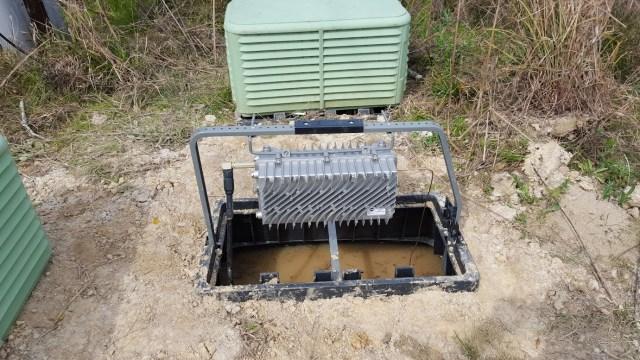 Figure 1: Flooded Fiber-Optic Enclosure.