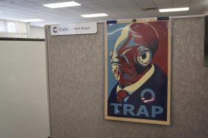 """Figure 1: """"Admiral Ackbar for President"""" Poster."""