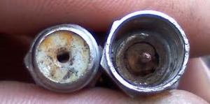 Figure 1: Corroded F-Connectors.