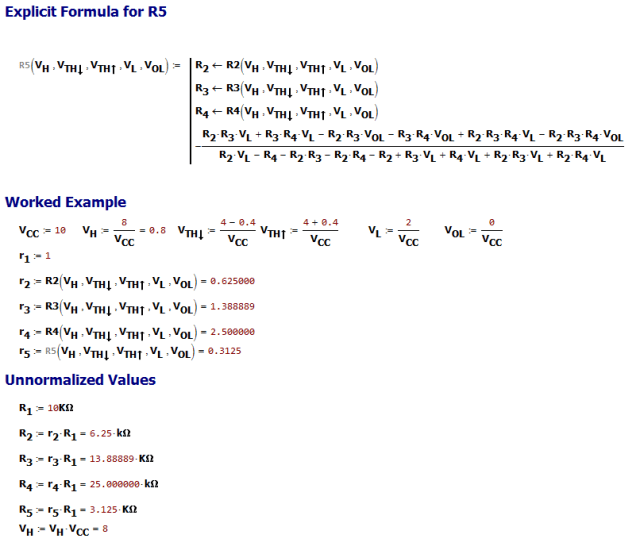 Figure 4: Determine the Comparator Circuit's Component Values.