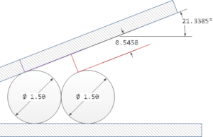 Figure 1: Example of Measuring a Small Angle.