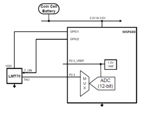 Figure 1: Typical LMT70 Application Circuit. My application circuit will be VERY similar. (Source)