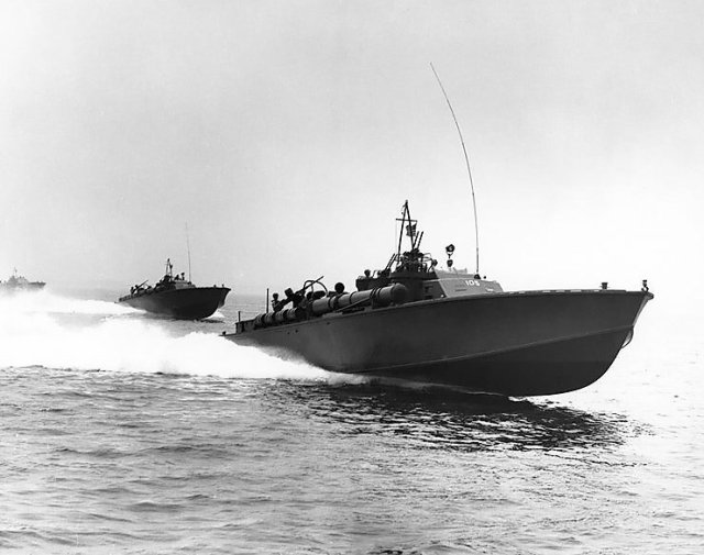 Figure M: PT-105, a PT boat very similar to PT-109.