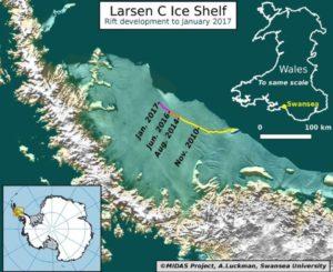 Figure 1: Larsen C Ice Shelf.