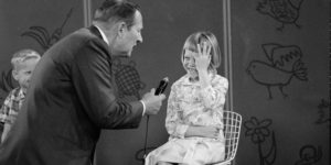 """Figure 1: Art Linkletter, during a segment of his show called """"Kids Say the Darndest Things."""""""