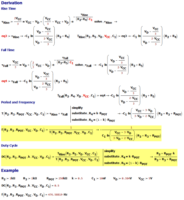 Figure 2: Derivation of the PWM Formulas.