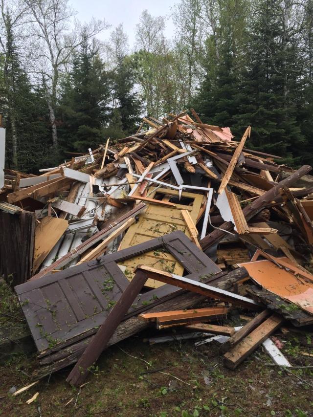 Figure 1: Old Cabin Demolition.