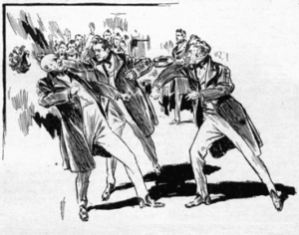 Figure 1: Drawing of Senators Fist Fighting in the 1800s.