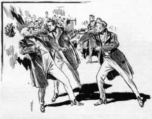 Figure 1: Drawing of Senators Fist Fighting in the 1800s.