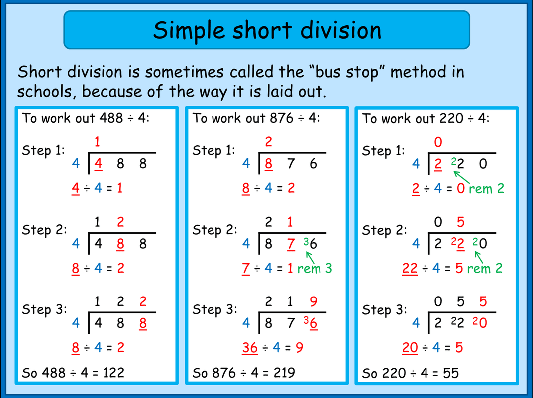 Short Division With Remainders Worksheet