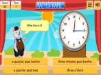 Telling the Time in Words - Mathsframe
