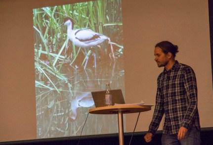 Pav Johnson höll bästa föredraget om Ölands Fåglar (kommande bok)