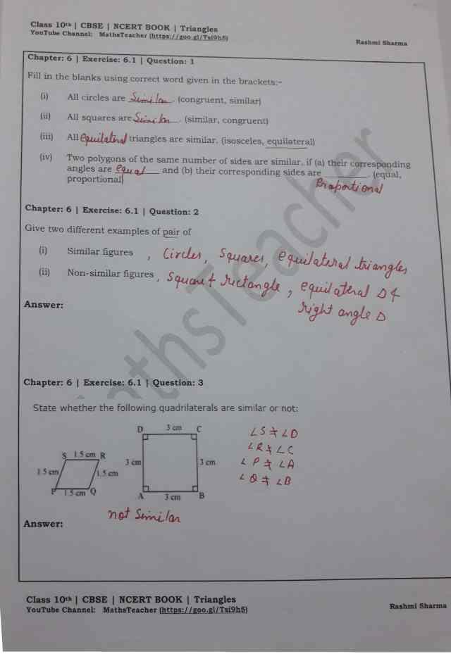 class 10 chapter-6 ex 6.1 Q-1