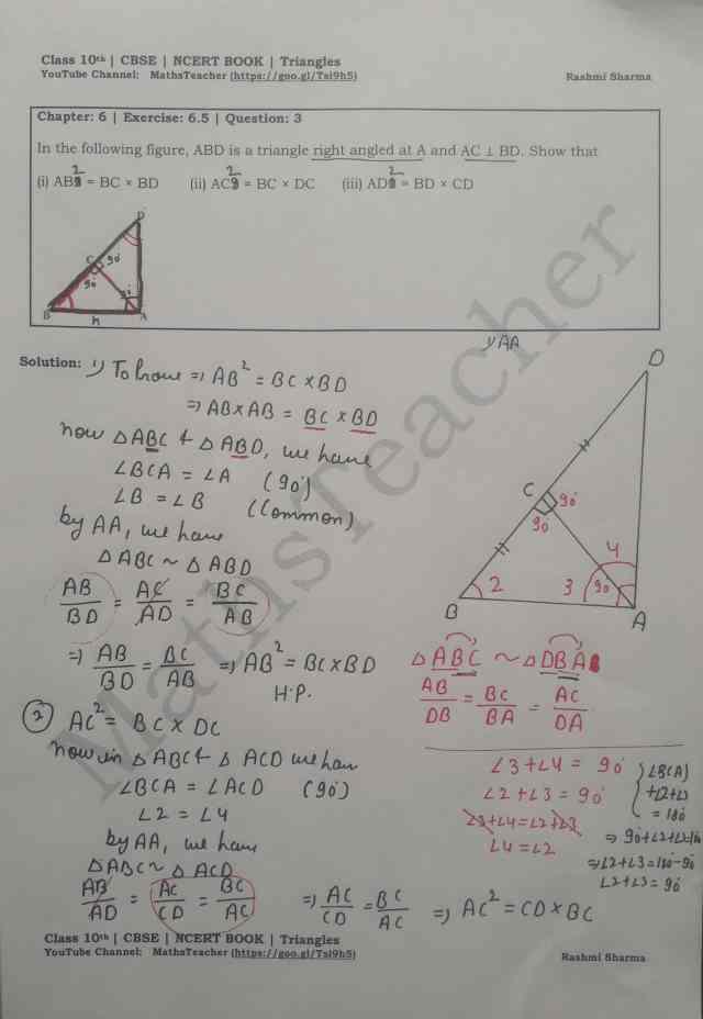 class 10 chapter-6 ex 6.5 Q-3