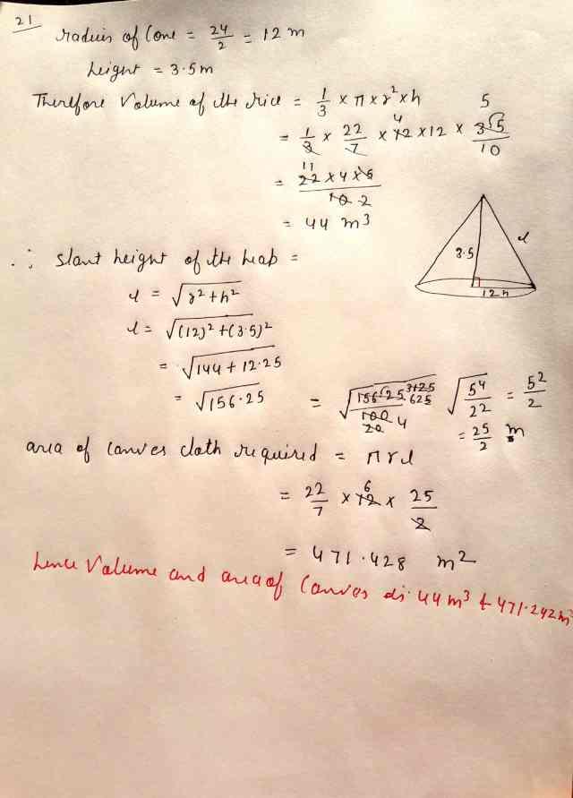 Class 10 Maths Exam Paper Section-C (Q21 Option 2)