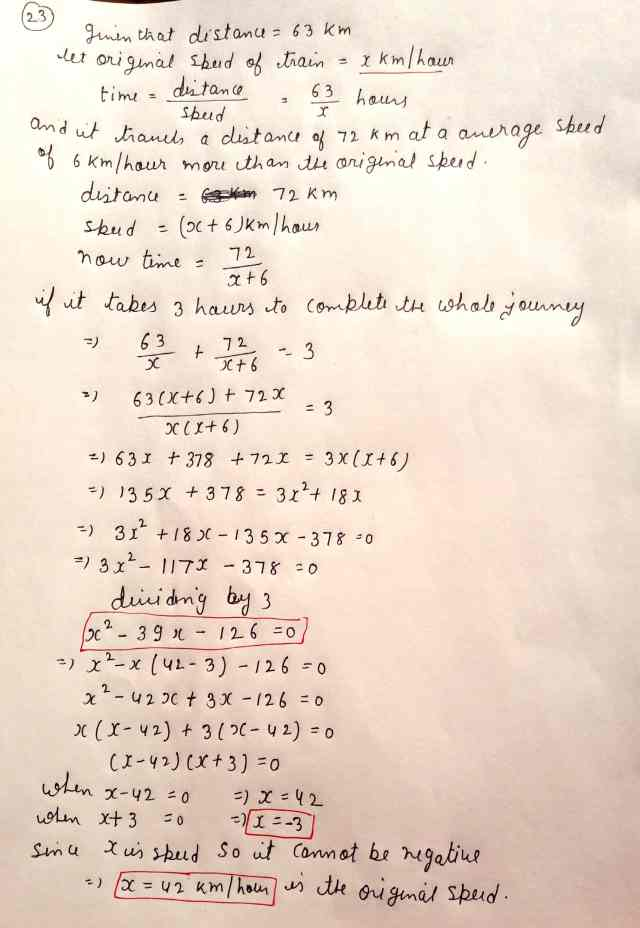 Class 10 Maths Exam Paper Section-D (Q23 Option 2)