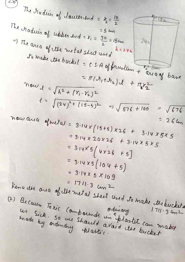 Class 10 Maths Exam Paper Section-D (Q28)
