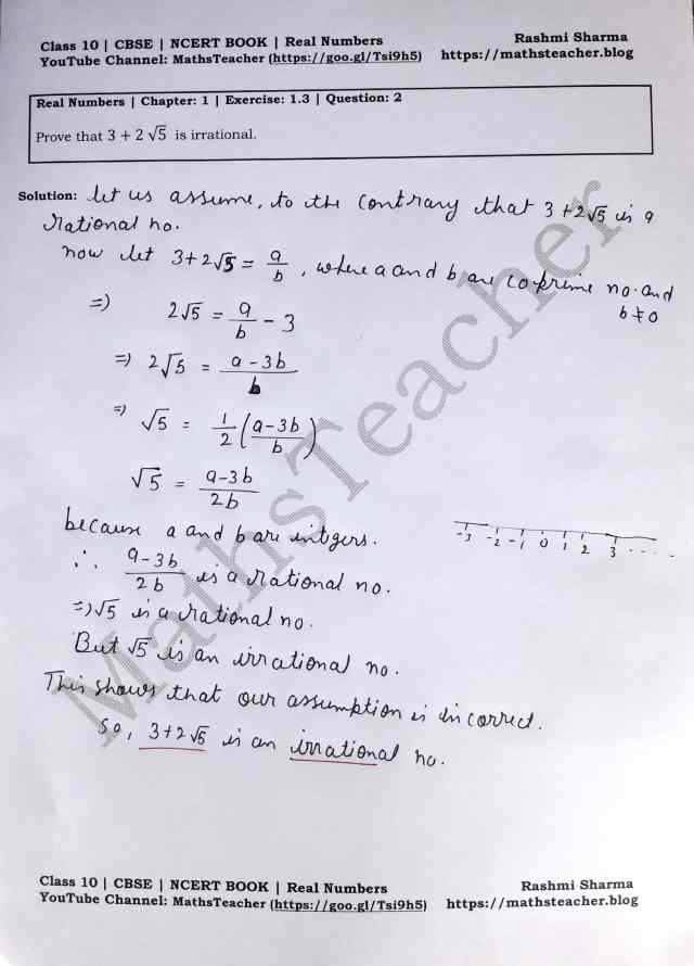 Class 10 Maths Real Numbers Exercise 1.3 Question 2 Part 1