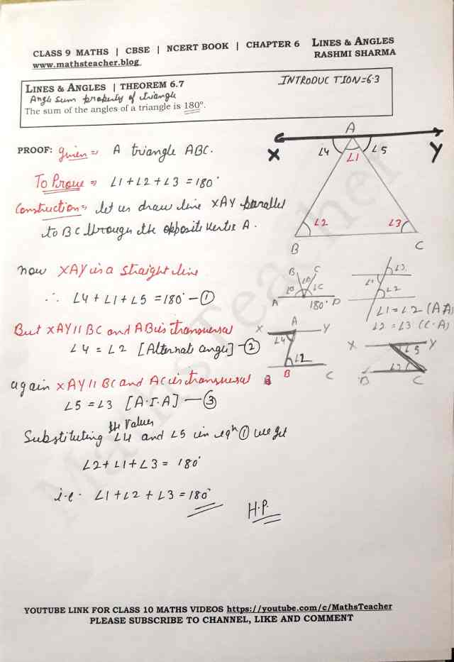 Class 9 Maths Theorem 6.7