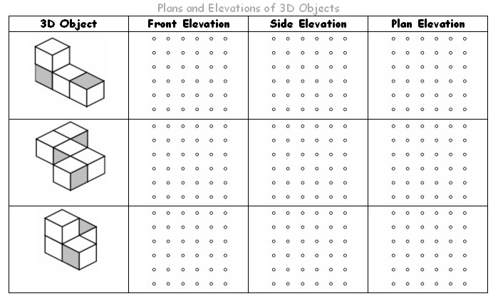 Plans And Elevations Maths Teaching